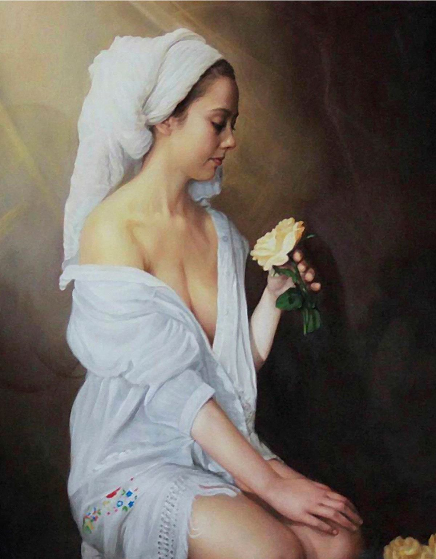 pintar un retrato al óleo