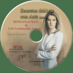 la reina letizia al óleo