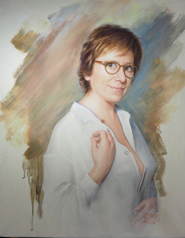 retrato artístico al óleo