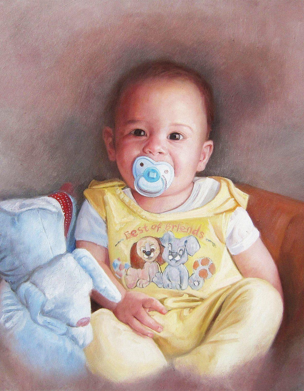 pintar un retrato de bebé